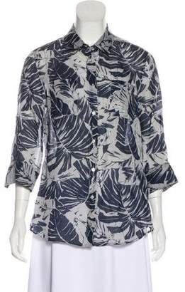 Max Mara Weekend Printed Button-Up Blouse