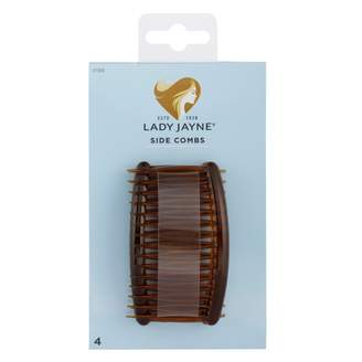 Lady Jayne Side Combs, Shell 4 pack