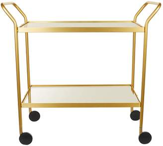 Kaymet Two-Tier Glass Tray Trolley