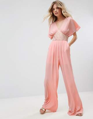 Traffic People Tailored Jumpsuit With Embellished Waistband