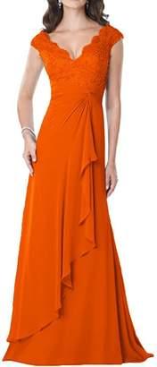 CladiyaDress Women V Neck Mermaid Long Evening Dress Formal Gowns C23LF US