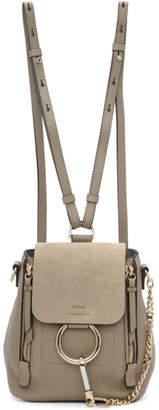 Chloé Grey Mini Faye Backpack