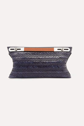 Loewe Missy Small Woven Textured-leather Shoulder Bag - Navy