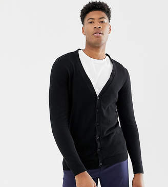Asos DESIGN TALL Cotton Cardigan In Black