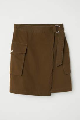H&M Short Cargo Skirt - Green