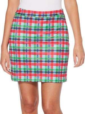 Rafaella Tropical Plaid Skort