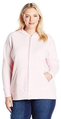 Just My Size Women's Plus Size Full Zip Fleece Hoodie