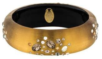 Alexis Bittar Crystal & Lucite Hinged Bracelet