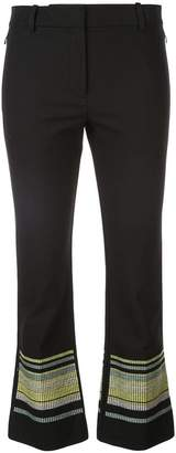Derek Lam 10 Crosby Cropped Flare Trouser with Embroidered Hem