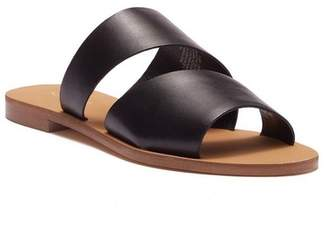 Nine West Em Down Leather Slide Sandal