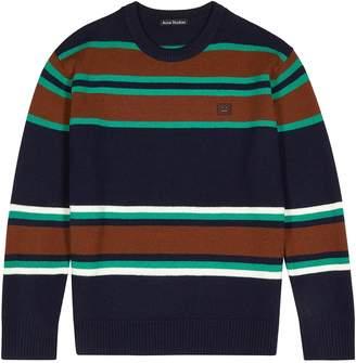 Acne Studios Navy Striped Wool Jumper
