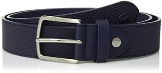 Lacoste Men's Classic Logo Embossed Buckle Belt
