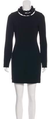 Diane von Furstenberg Chain Link-Accented Giada Dress Black Chain Link-Accented Giada Dress