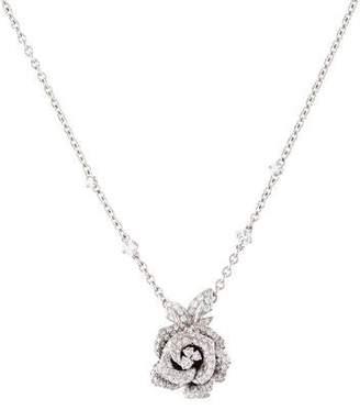 Christian Dior 18K Diamond Rose Bagatelle Necklace