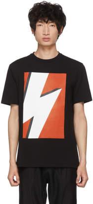 Neil Barrett Black and Red Pop Art Lightning Bolt T-Shirt