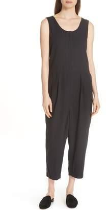 Eileen Fisher Scoop Neck Organic Cotton Jumpsuit