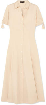 Theory Stretch-cotton Midi Dress - Cream