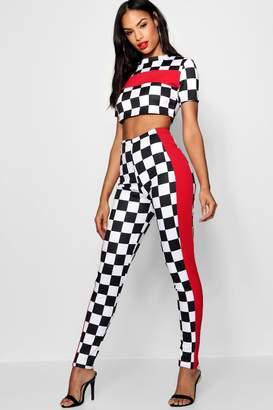 boohoo Checkerboard Trouser Co-ord Set