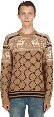 Gucci Gg Wool Jacquard Sweatshirt