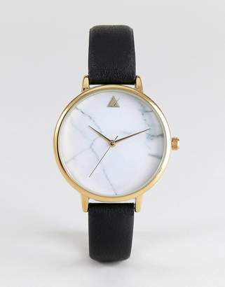 Asos Marble Face Black Strap Watch