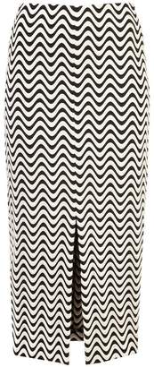 Yigal Azrouel front slit wave skirt