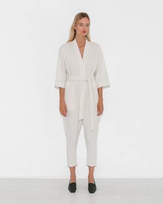 Jesse Kamm Ivory Long Sleeve Kimono Jumpsuit