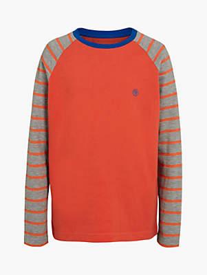 Fat Face Boys' Stripe Sleeve Ringer T-Shirt