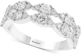 Effy Diamond Openwork Ring (1-1/4 ct. t.w.) in 14k White Gold