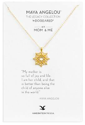 "Dogeared Maya Angelou Legacy Collection ""On Mom & Me"" Necklace, 18"""