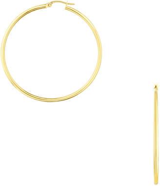 Sphera Milano Women's 14K Gold Large Skinny Hoop Earrings