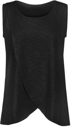 ZEVONDA Women's T-shirt Nursing Tops Breastfeeding Clothes Vest S-5XL, /4XL