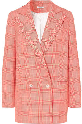 Ganni Checked Cady Blazer - Red
