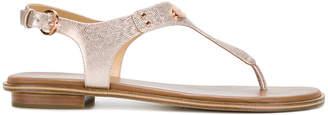 MICHAEL Michael Kors metallic T-bar sandals