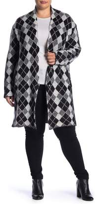 Joseph A Plaid Maxi Cardigan (Plus Size)