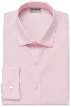 Kenneth Cole Reaction Pink Glaze Fancy Slim Fit Dress Shirt