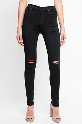 A Gold E AGOLDE Sophie in Gold Dust Skinny Jeans