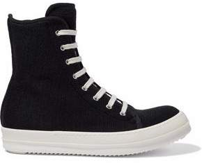 Rick Owens Knitted High-Top Sneakers