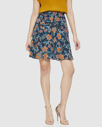 Oxford Molly Blue Floral Skirt