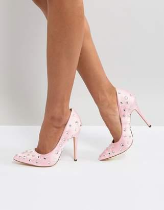 London Rebel embellished pointed heeled shoes