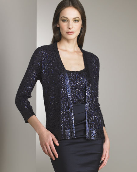 Donna Karan Collection Sequin Cardigan