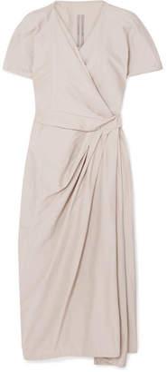 Rick Owens Cotton And Silk-blend Voile Wrap Dress