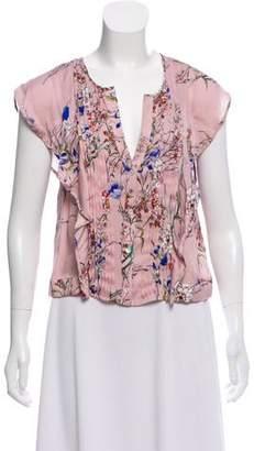 Marissa Webb Floral Print Sleeveless Top