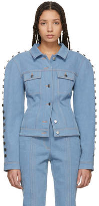 Kreist Blue Studded Round Shoulders Jacket