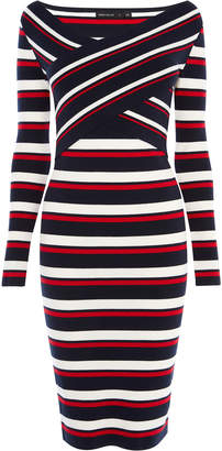 Karen Millen Striped Midi Dress