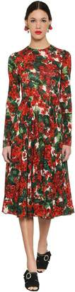 Dolce & Gabbana Printed Stretch Silk Midi Dress