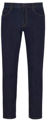 Prada Slim Leg Stretch Denim Jeans - Mens - Dark Blue