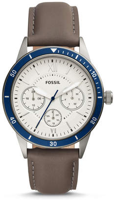 Fossil Flynn Sport Multifunction Gray Leather Watch