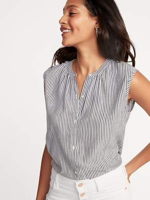 Old Navy Sleeveless Button-Front Striped Shirt for Women