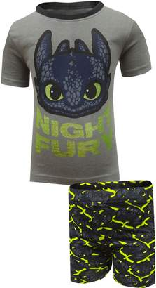 Intimo Big Boys' How to Train Your Dragon 'Night Fury' Pajama Short Set