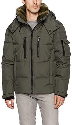 S13 Men's Windham Quilted Down Jacket with Faux Fur Collar